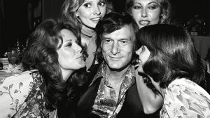 Mandatory Credit: Photo by James Fortune/REX/Shutterstock (803112cx) Hugh Hefner and Playmates at the Playboy Club, Various