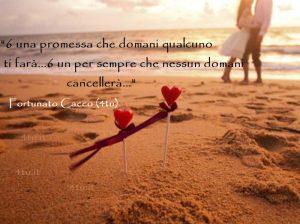 Sei un fiore che domani nascerà ... sei uno sguardo che domani il mondo vedrà ... sei un pensiero che domani un nome avrà ... sei un amore semplice che domani crescerà... sei una difficoltà che domani passerà... sei un cuore che domani batterà... sei una domanda che domani qualcuno ti farà... sei una promessa che domani qualcuno ti farà... sei un per sempre che nessun domani cancellerà